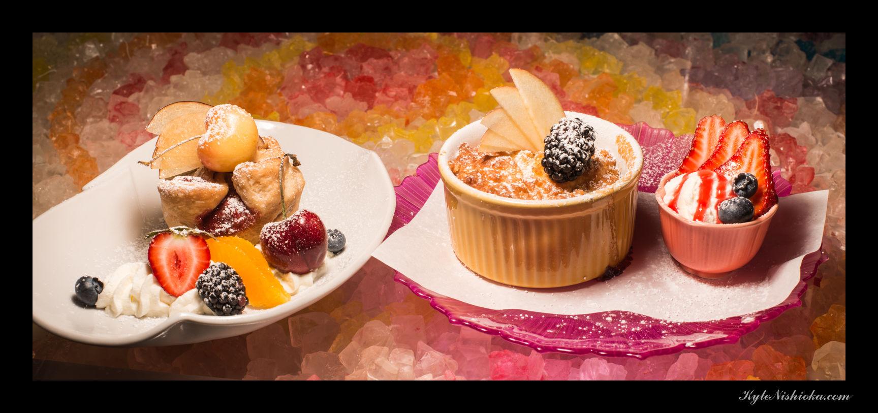 Plum & Cherry Cup Pie / Peach Cobbler