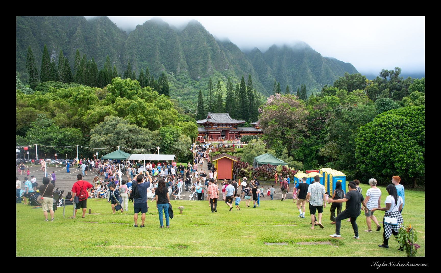 Byodo In Temple in Kaneohe, HI